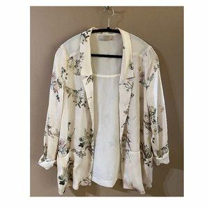 Zara Silk-Like Blazer